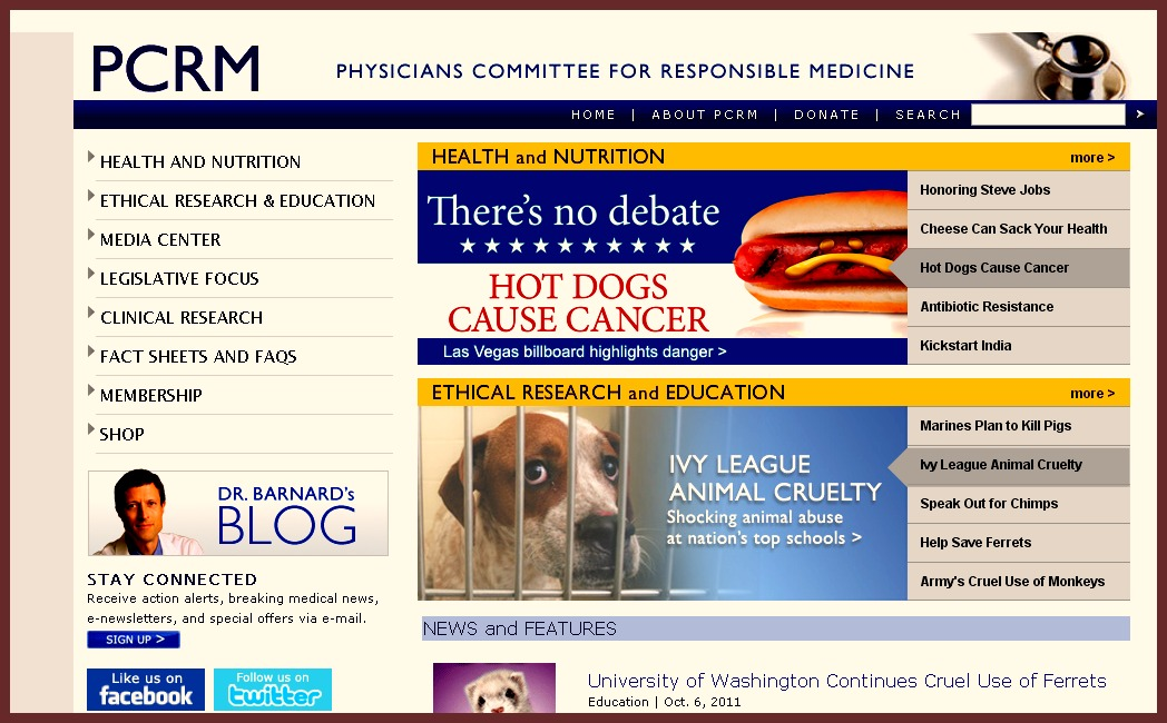 Physicians for responsible medicine