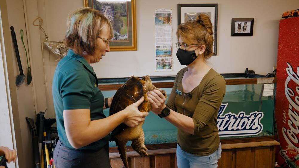 Alexxia and Natasha perform a health check