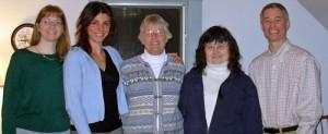 NHARL Board 2005-2007: Cindy Glenn, Kat Ranalletti, Linda Rauter, Linda Dionne, Jeff Priest